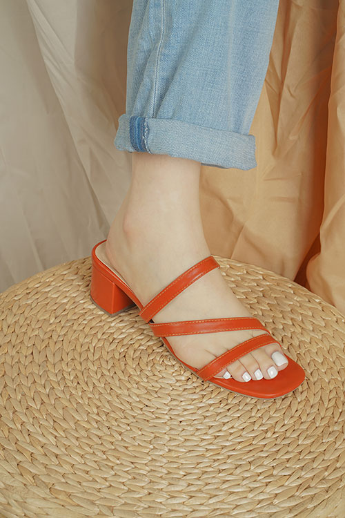 Close up of red sandals
