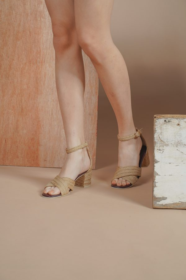 Nude and Beige Sandals