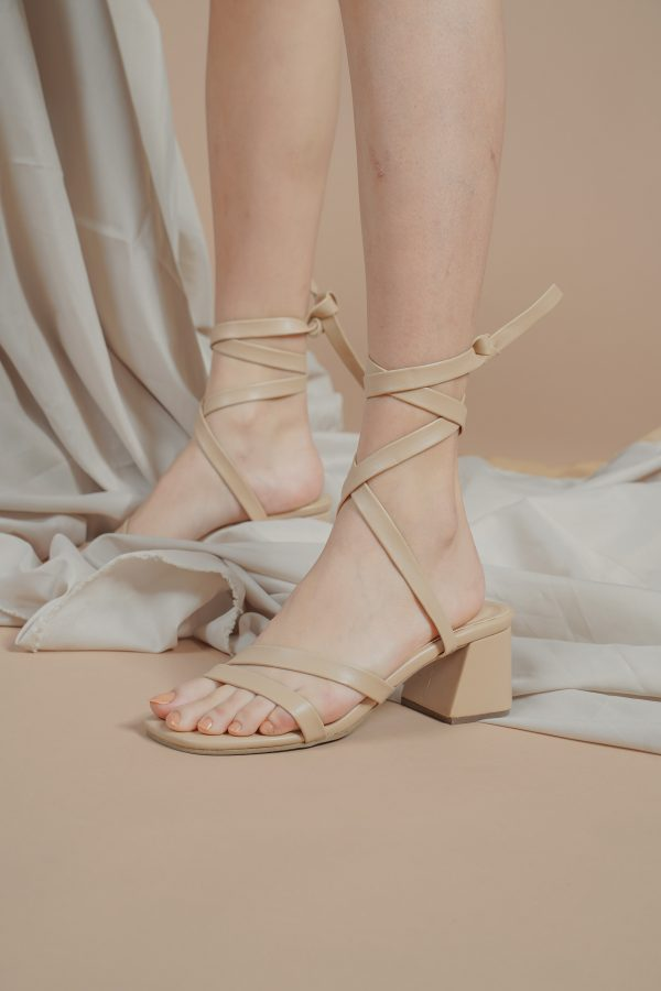 Close up of nude sandals