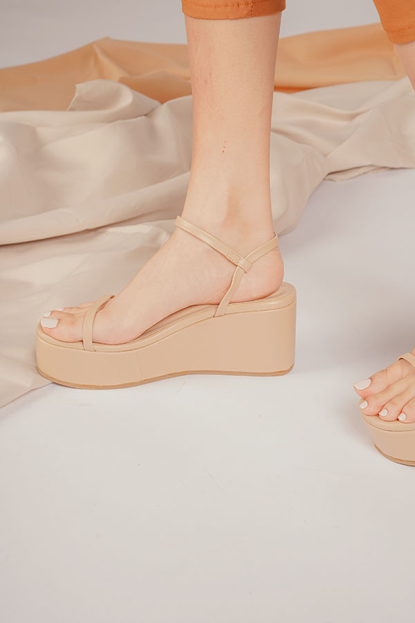Bret nude wedges for date night